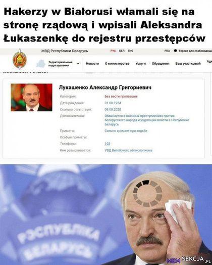 Hakerzy w białorusi włamali się