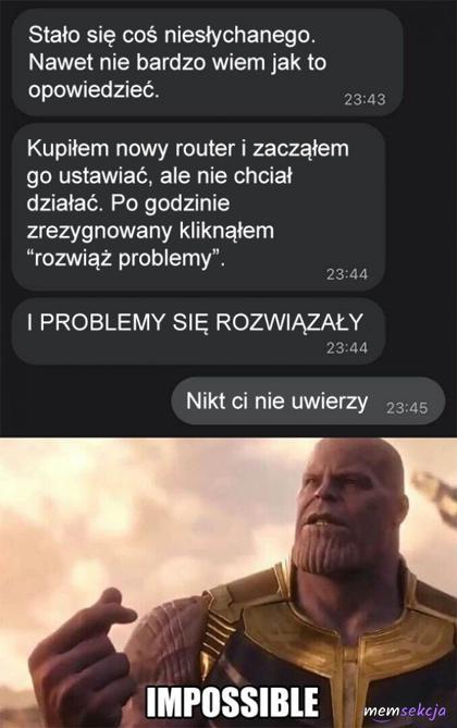Rozwiązał problemy