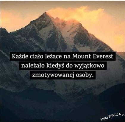 Zmotywowane ciała na Mount Everest