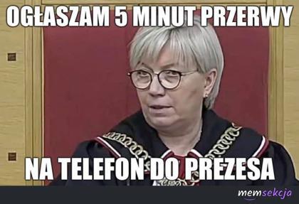 5 minut przerwy na telefon do prezesa