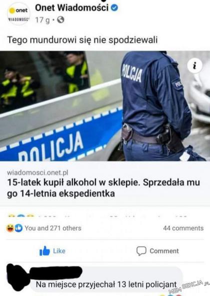 13 letni policjant