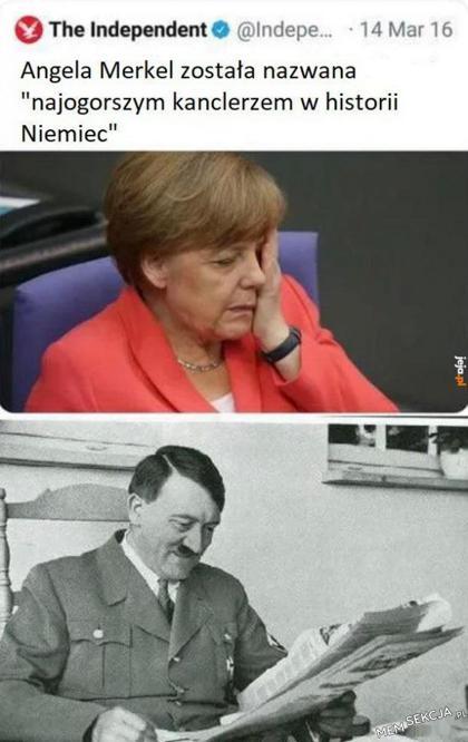 Angela Merkel najgorszym kanclerzem w historii