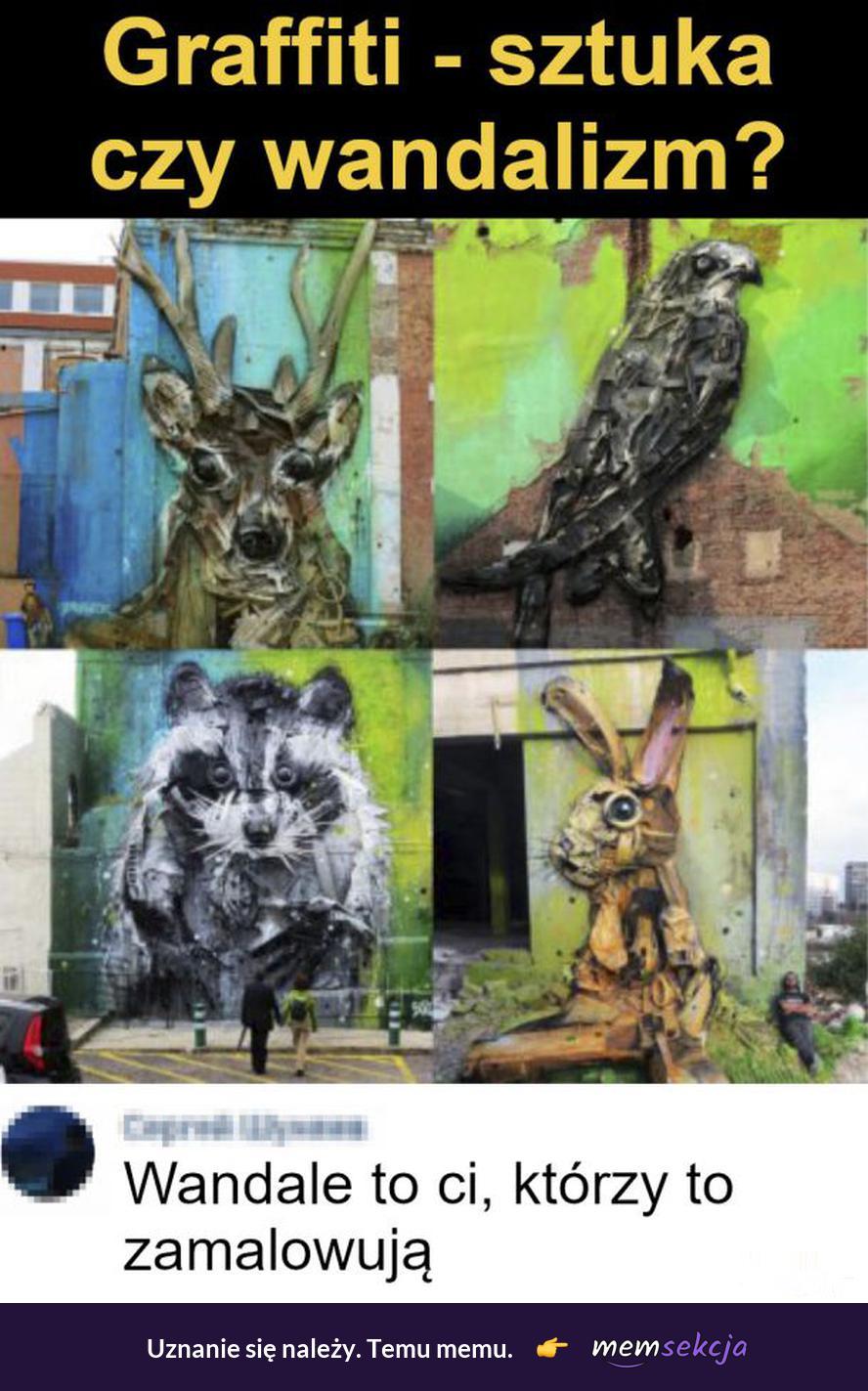 Graffiti - sztuka czy wandalizm?. Memy. Graffitti