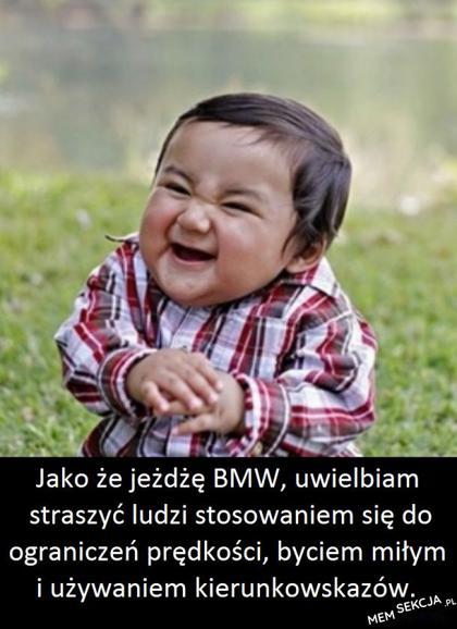 Dziwny kierowca BMW. Memy