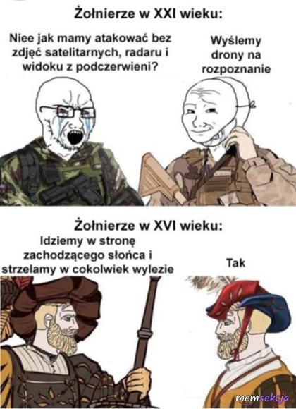Żołnierze w XXI wieku vs żołnierze w XVI wieku