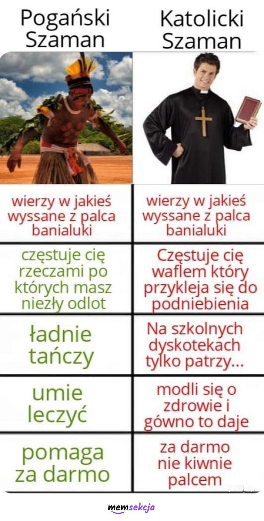 Pogański Szaman vs Katolicki Szaman. Memy. Katolik. Szaman. Poganie