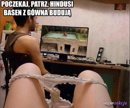 Patrz na hindusów co budują basen z gówna