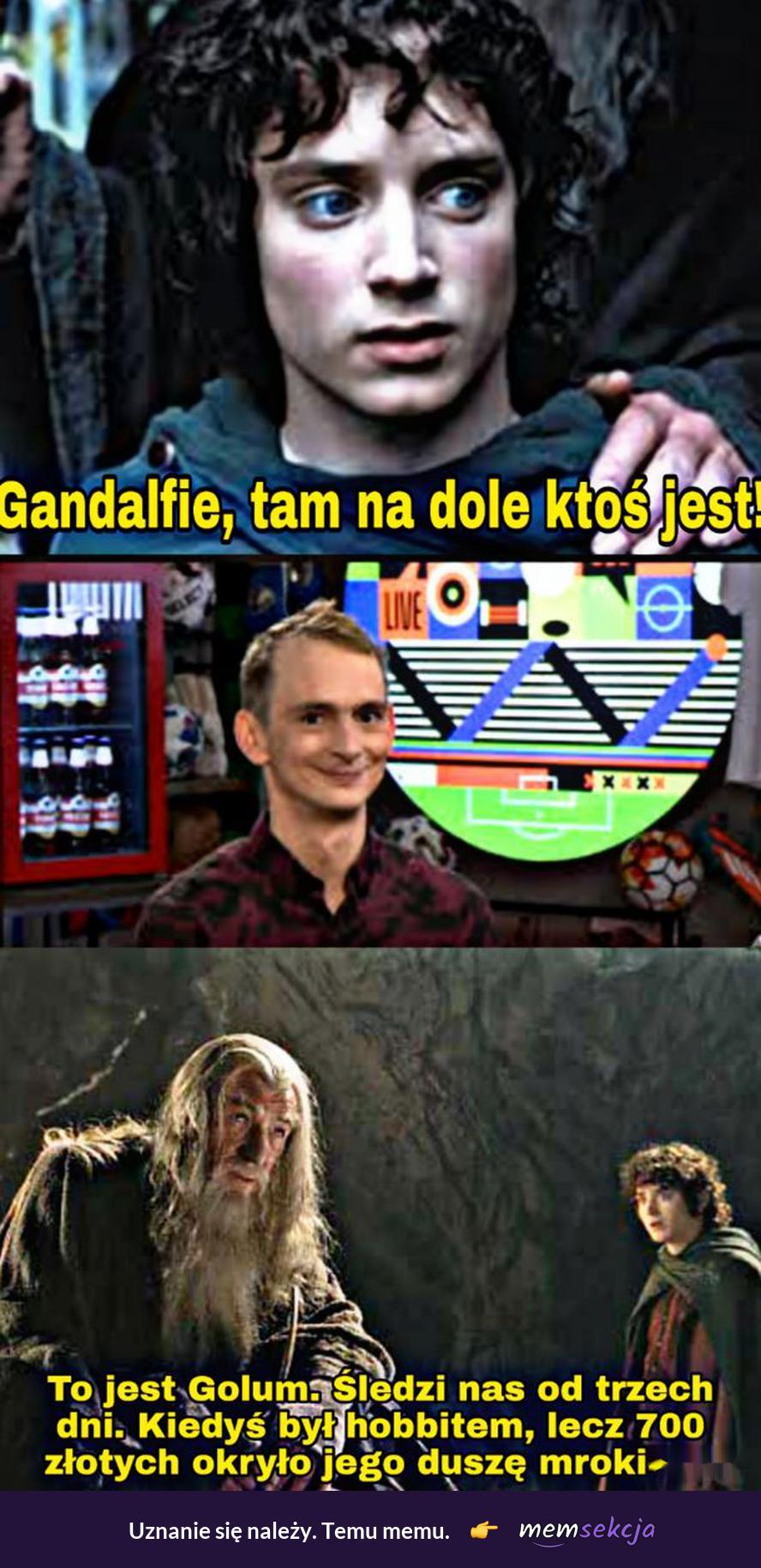 Gandalfie tam na dole ktoś jest. Władca pierścieni. Gandalf. Frodo. Jaś  Kapela