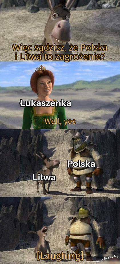 Łukaszenka uważa Polskę i Litwę za zagrożenie
