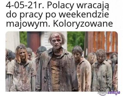 Jak Polacy wracają do pracy po weekendzie majowym