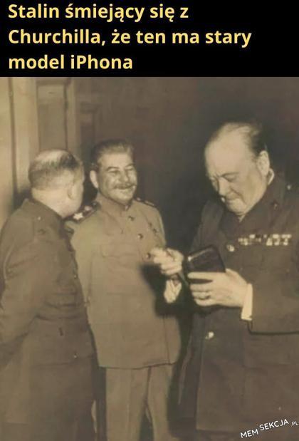 Stalin śmiejący się z Churchilla