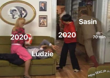 Sasin w 2020 roku