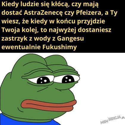 Kiedy ludzie się kłócą czy przyjąć Astra Zenecę czy Pfizera