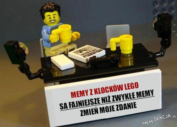 Memy z klocków lego