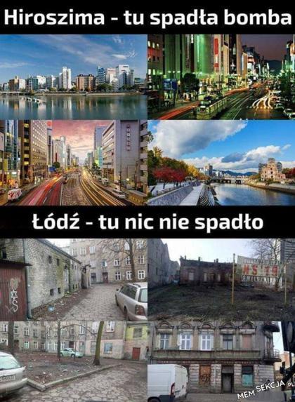 Łódź - tu nic nie spadło