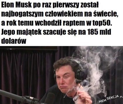 Rakietowy wzrost. Elon Musk