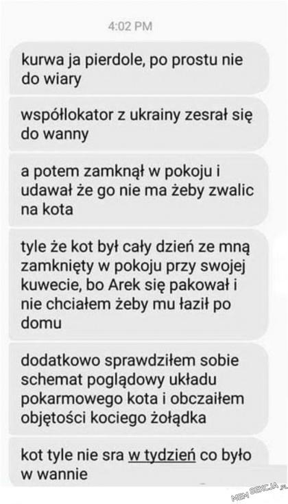Ukrainiec się zesrał do wanny