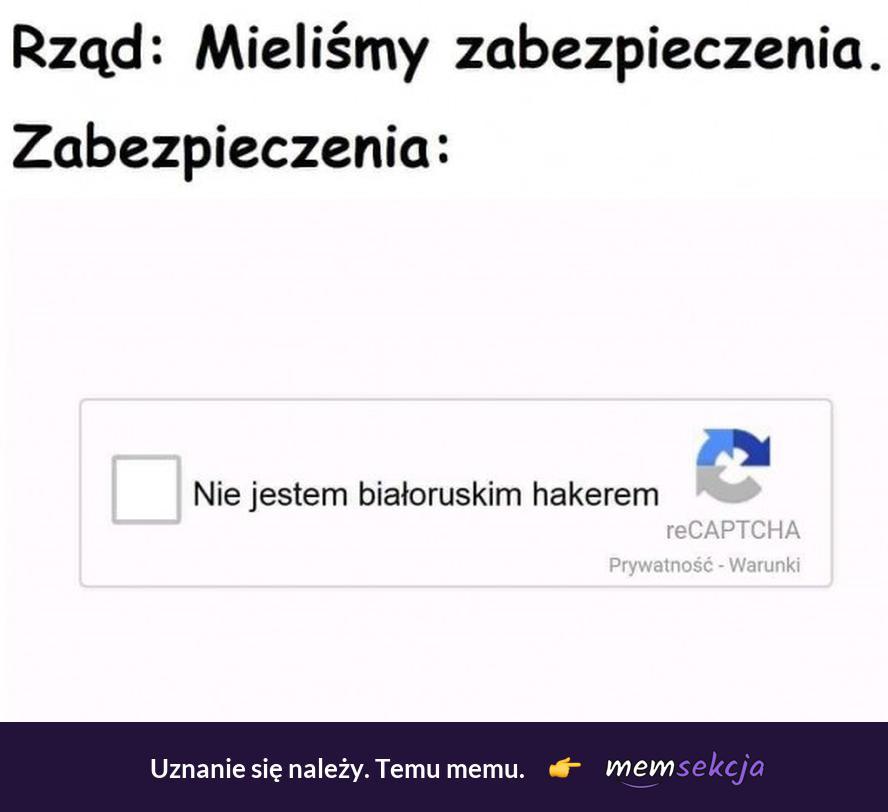 Nie jestem białoruskim hakerem
