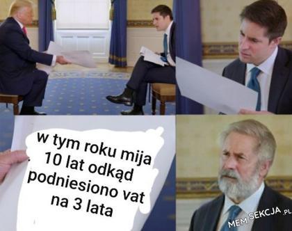 10 lat temu Tusk podniósł VAT na 3 lata