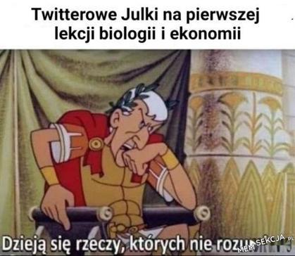 Twitterowe Julki na lekcji biologii i ekonomii