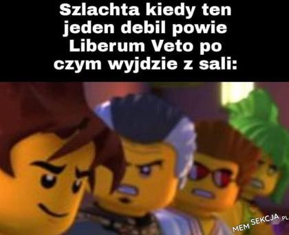 Szlachta, kiedy jeden powie liberum veto