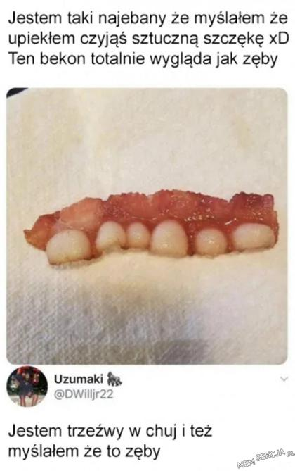Ale ktoś ma dziwne zęby. Memy