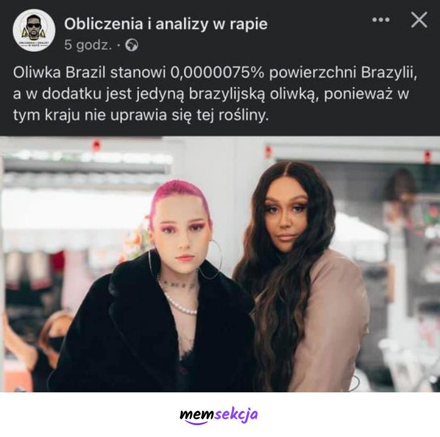 Oliwka Brazil to jedyna brazylijska Oliwka. Memy. Oliwka  Brazil. Young  Leosia. Rap