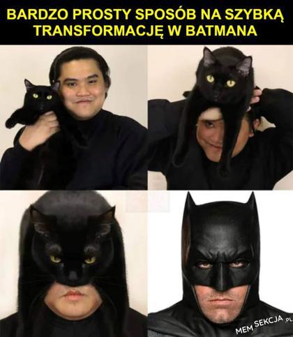 Szybka transformacja w Batmana