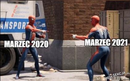 Marzec 2020 i marzec 2021 są takie same