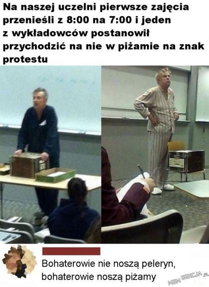 Bohater w piżamie