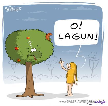 Lagun na drzewie w raju