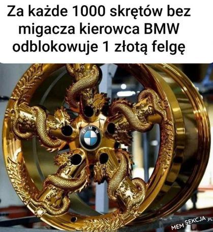sekret braku kierunkowskazów w BMW