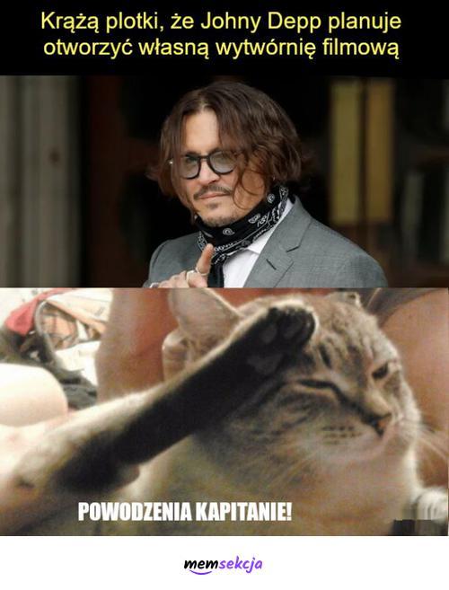 Johny Depp planuje otworzyć własną wytwórnię filmową. Memy. Johnny  Depp