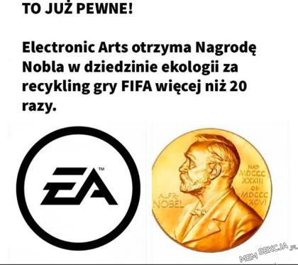 EA otrzyma Nagrodę Nobla w dziedzinie ekologii