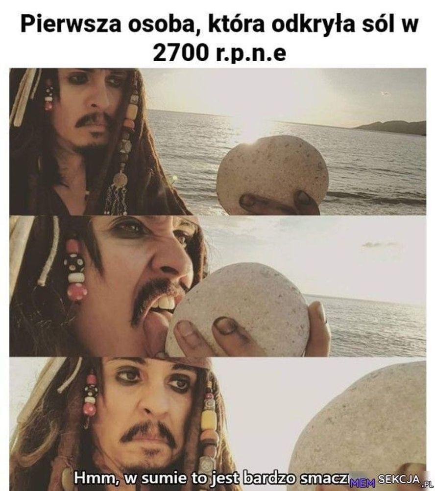 Pierwsza osoba, która odkryła sól w