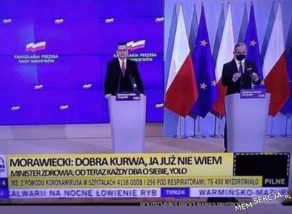 Morawiecki: Dobra k*wa, ja już nie wiem