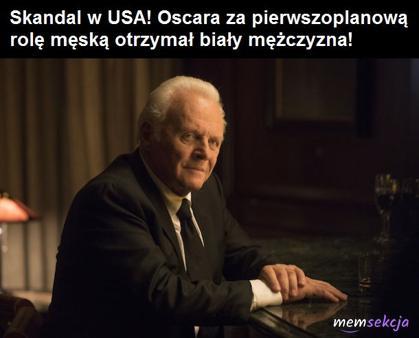 Skandal w USA. Biały mężczyzna dostał Oscara