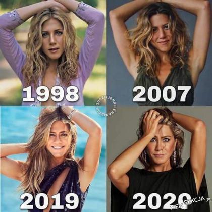 Niesamowite, Jennifer Aniston młodnieje z wiekiem. Ciekawostki