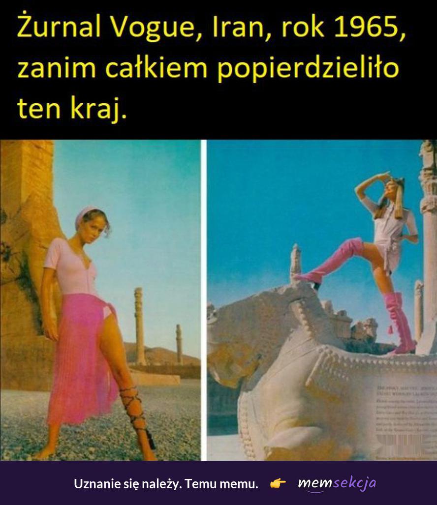 Vogue z Iranu rok 1965. Ciekawostki. Vogue. Iran