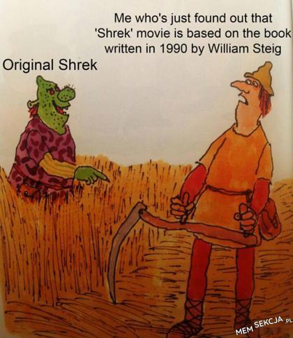 Okazuje się, że Shrek jest oparty na książce