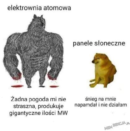 Potężna elektrownia atomowa. Memy. Energia