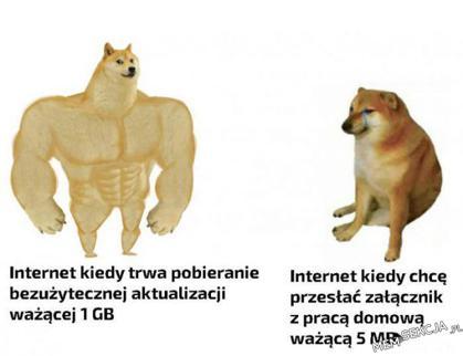 nie wiem dlaczego ale właśnie na tej zasadzie działa mój internet