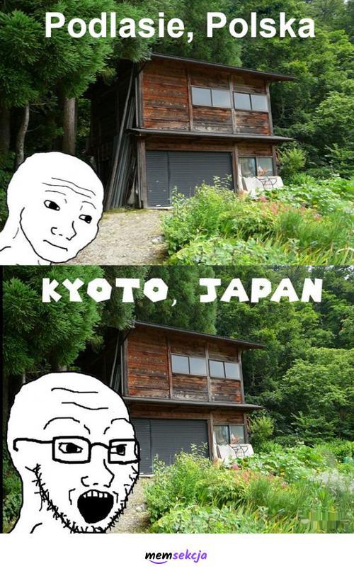 Podlasie kontra Kyoto. Śmieszne. Podlasie  Memy. Japonia
