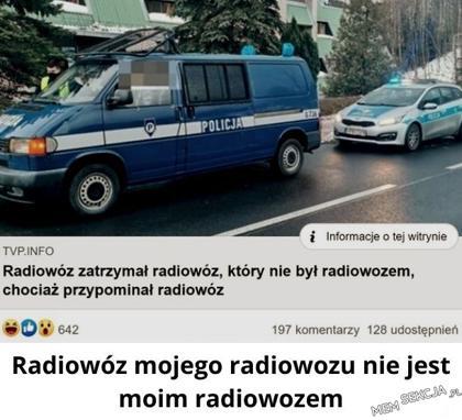 Radiowóz nie był radiowozem. Memy