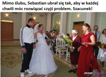 Mimo ślubu, Seba rozwiązuje problemy