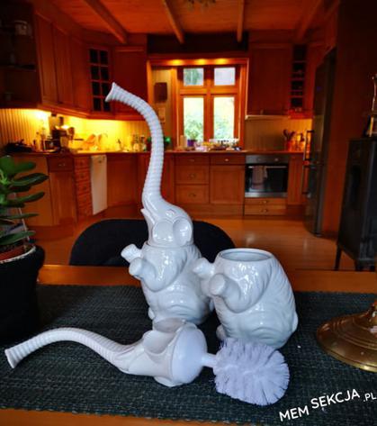 słoń do czyszczenia kibla
