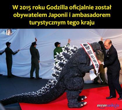Godzilla został ambasadorem Japonii