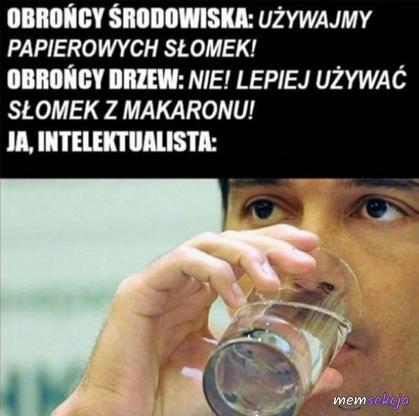 Picie wody przez intelektualistów