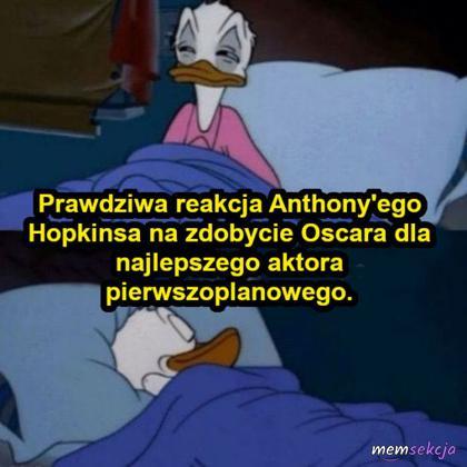 Reakcja Hopkinsa na zdobycie Oscara