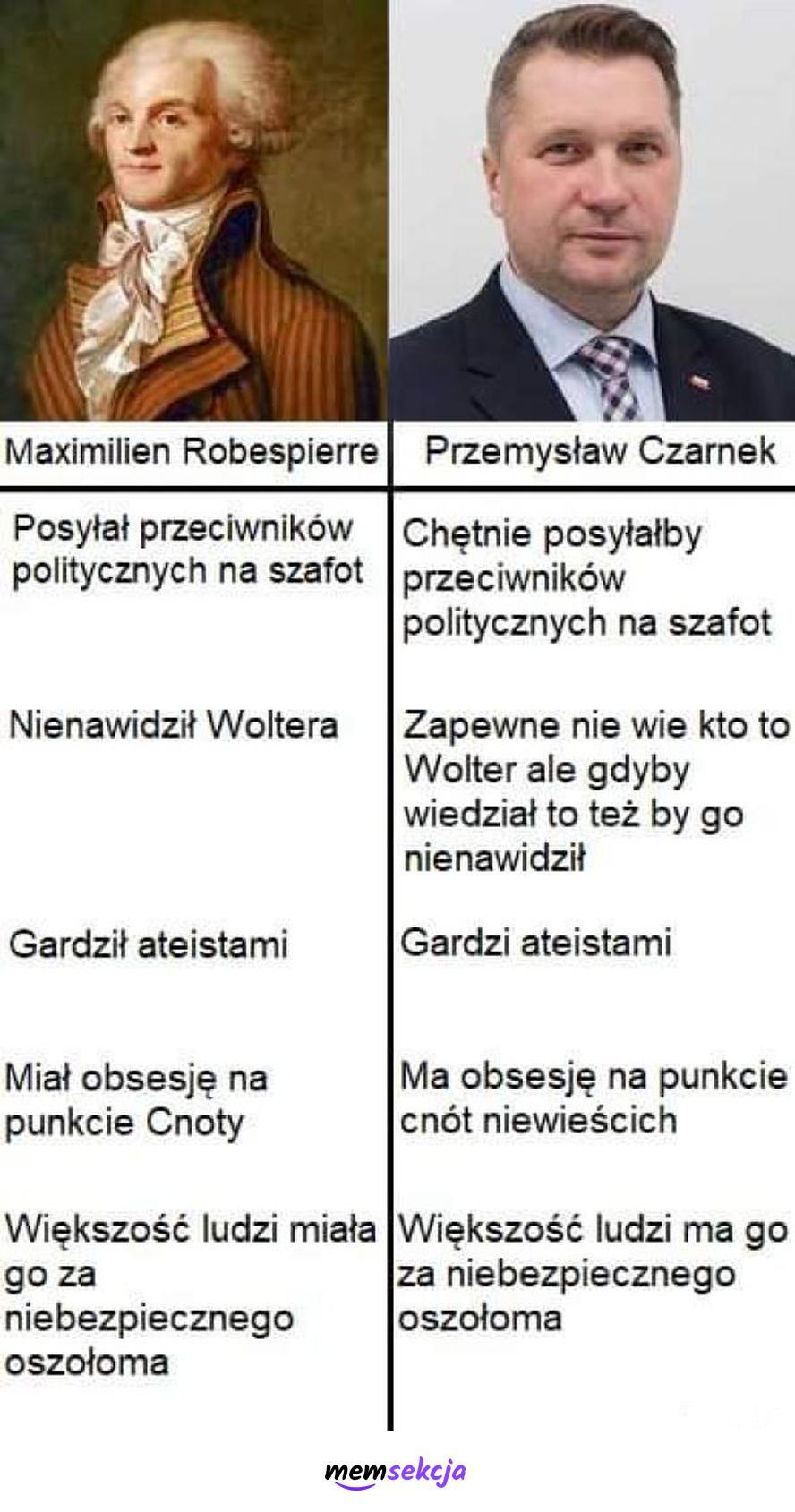 Przemysław Czarnek vs Robespierre